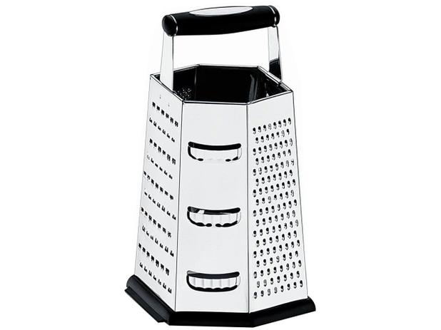 Ralador Manual Inox 6 Faces Brinox - Top Pratic