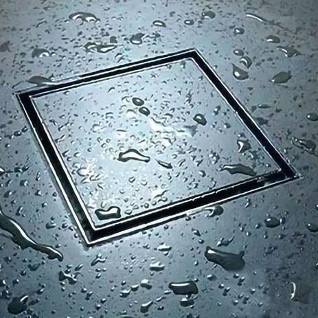 Imagem de Ralo Invisível 15x15cm Inox Oculto Banheiro Anti Odor Kelter K-R104