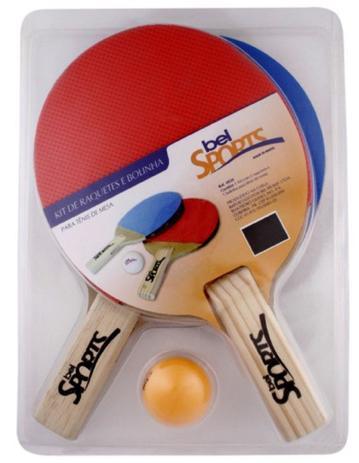 da85e5c28 Raquetes para Tênis de Mesa c  3 bolinhas Bel Sports - Acessórios de ...