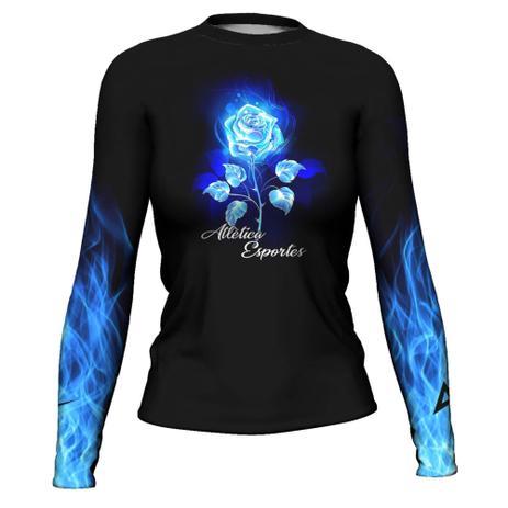 Imagem de Rash Guard Com Blue Flower Femi Surf Prot Térmica ATL