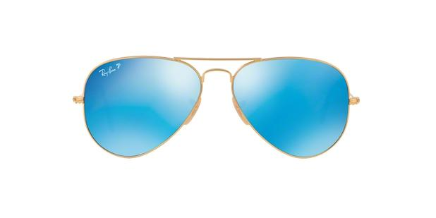 3439b58d1e0fb Ray-Ban Aviador RB3025 112 4L Ouro Fosco Lente Polarizada Espelhada Azul  Tam 58