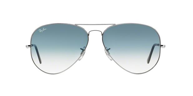 f371855abc3d0 Ray-Ban Aviador RB3025L 003 3F Prata Lente Azul Degradê Tam 62 ...