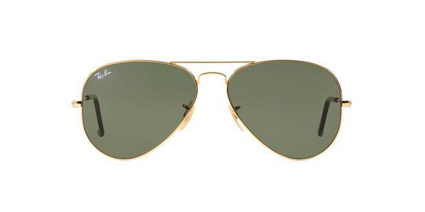 Ray-Ban Aviador RB3025L 181 Ouro Polido Lente Verde Escuro G15 Tam ... f842e2489f