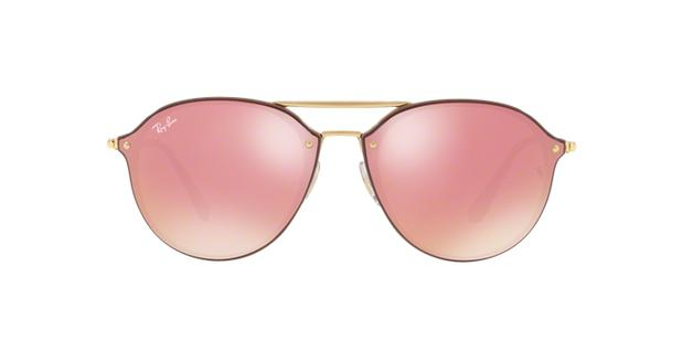 ba252f2877da4 Ray-Ban Blaze Double Bridge RB4292N 6327E4 Marrom Lente Rosa Espelhado Tam  62