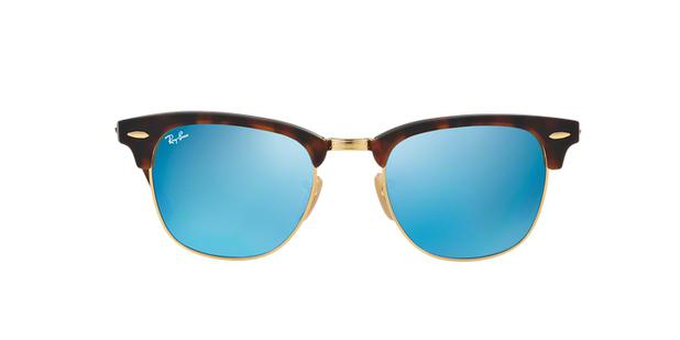 d812268fc5f0a ... switzerland ray ban clubmaster classic rb3016 114517 tartaruga lente  espelhada azul degradê tam 51 ray 6323d