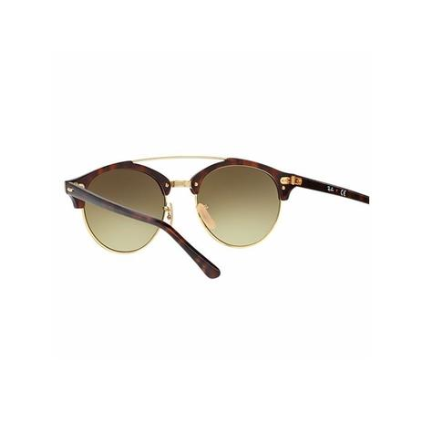 1ab5439d0 Ray Ban Clubround Double Bridge RB4346 990/7O 51 Tartaruga/Dourado ...