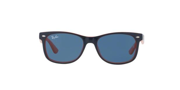 570f94154b92f Ray-Ban Junior Kids Infanto Juvenil New Wayfarer RJ9052S 178 80 Azul    Laranja Lente Azul Tam 48