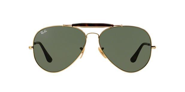 Ray-Ban Outdoorsman II RB3029 181 Ouro Lente Verde Escuro G15 Tam 62 ... 6075e0645a
