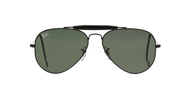 f8f90a90a95e2 Ray-Ban Outdoorsman RB3030L 9500 Preto Lente Verde Escuro G15 Tam 58 ...