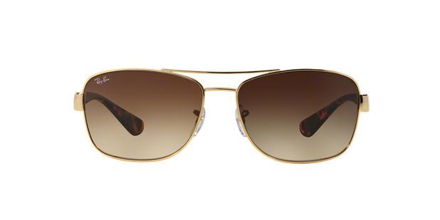 Ray-Ban RB3518L 001 13 Ouro Lente Marrom Degradê Tam 63 - Óculos de ... b1135cfa91