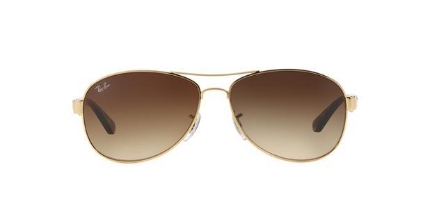 289a6d28be9ba Ray-Ban RB3525L 001 13 Ouro Lente Marrom Degradê Tam 59 - Óculos de ...