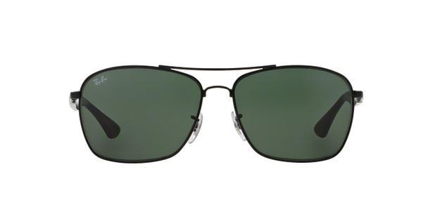3e1889b4c1f99 Ray-Ban RB3531L 006 71 Preto Lente Verde Escuro G15 Tam 64 - Óculos ...