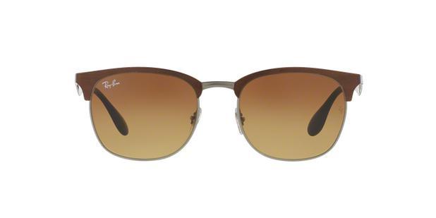64e5e33ec69e2 Ray-Ban RB3538 188 13 Marrom Lente Marrom Degradê Tam 53 - Óculos de ...