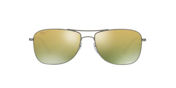 Ray-Ban RB3543 029 6O Grafite Lente Polarizada Espelhada Ouro Verde Tam 59 - 640a3f8e45