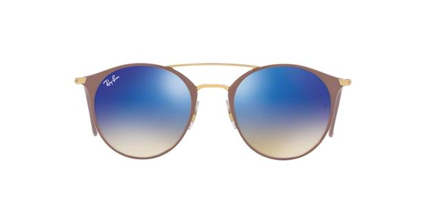 6dfc8713c Ray-Ban RB3546 90118B Nude Lente Azul Flash Degradê Tam 52 - Óculos ...