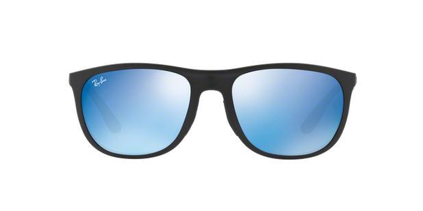 b6d53a5fe Ray-Ban RB4291 601S55 Preto Lente Azul Espelhado Tam 58 ...