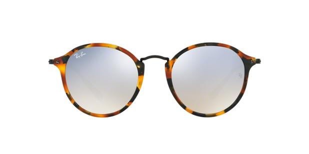 Ray-Ban Round Classic Fleck RB2447 11579U Tartaruga Lente Cinza Flash  Degradê Tam 52 25298be193