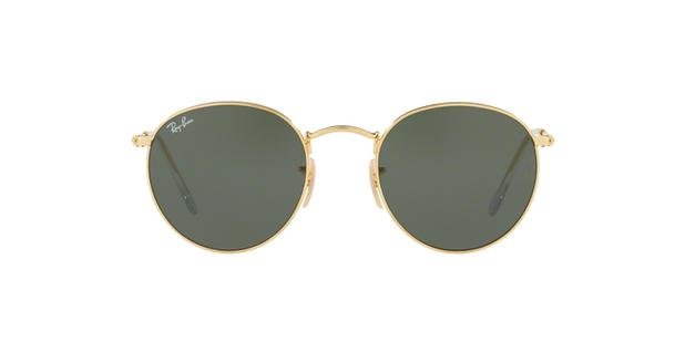 Ray-Ban Round Metal RB3447L 001 Ouro Lente Verde Escuro G15 Tam 53 ... bd6c512745