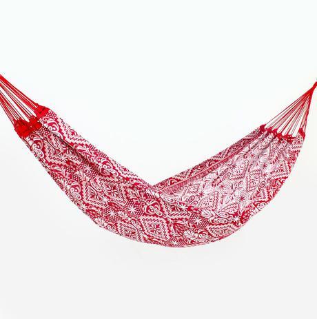 Rede de Dormir Casal Indiana Vermelho com Branco - Redes de dormir ... c67f3a6b484