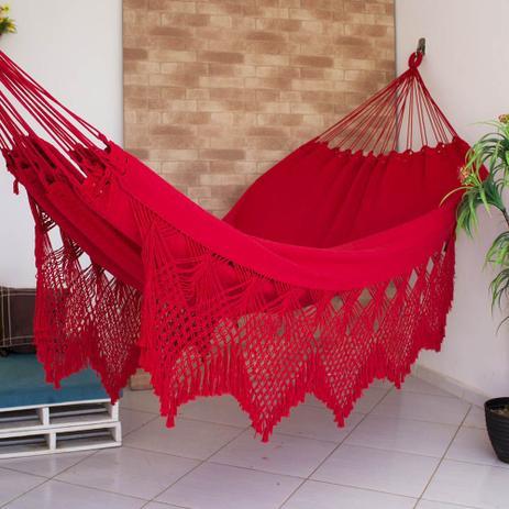 a54d34b0d297ad Rede de Dormir Casal Ostra Vermelha - Redes de dormir