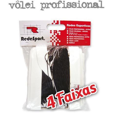 Rede De Vôlei Profissional 4 faixas 10m - Redesport - Vôlei ... fef46a680487a
