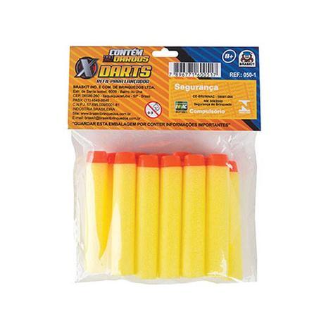 Imagem de Refil c/12 dardos de espuma para lançador darts braskit