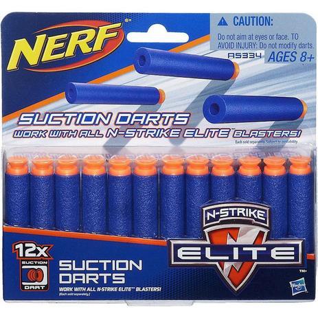 bbe693a916 Refil Nerf Elite 12 Dardos Succao A5334 - Hasbro - Acessórios Nerf ...