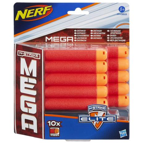 c09ce66ba1 Refil Nerf N-Strike Mega - 10 Dardos - Hasbro - Acessórios Nerf ...
