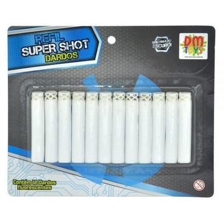 Imagem de Refil para Lançador Super SHOT 12 Dardos Fluorescentes DM TOYS DMT5634