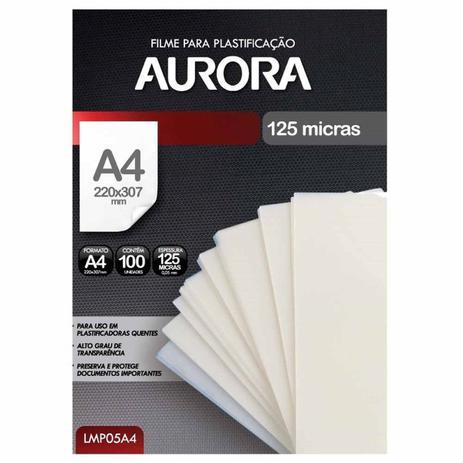 Imagem de Refil Polaseal para Plastificação A4 100 Unidades Aurora