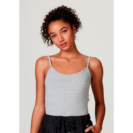 Imagem de Regata Básica Feminina Modelagem Slim Com Alças Finas