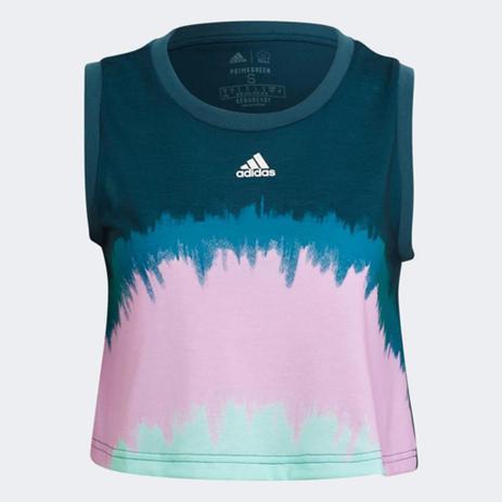 Imagem de Regata Cropped Adidas Farm Rio Tie Die Feminina
