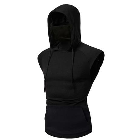 Imagem de Regata Masculina Ninja Com Mascara Embutida E Capuz Slim Fit