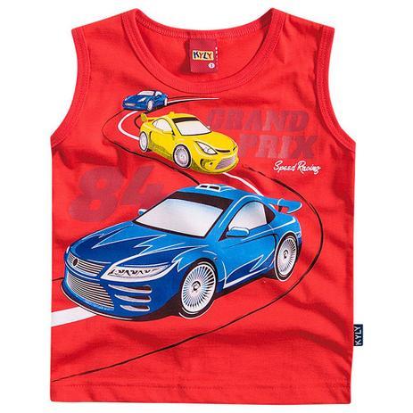 ddbb5ec0f9 Regata Menino Grande Premio de Corrida Vermelho - Kyly - Camiseta e ...