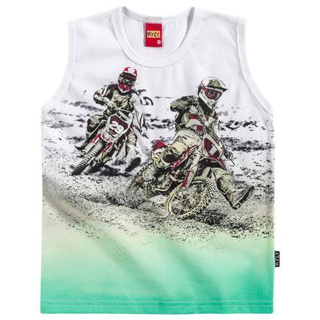 8876884e99b66 Regata Menino Motocross Branca - Kyly - Camiseta e Blusa Infantil ...
