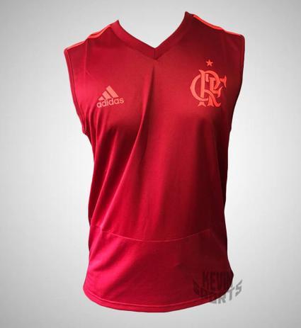 68961410f7 Regata Original Flamengo Adidas de Treino 2018 - Camisa de Time ...