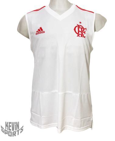 Regata Treino Flamengo Adidas Branca 2018 - Camisa de Time ... d459041377717