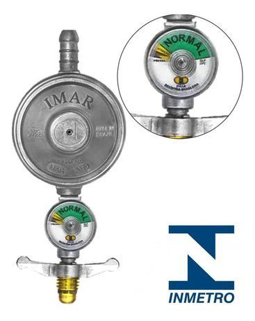 Imagem de Registro De Gás C/ Visor Medidor Manômetro Valvula Regulador