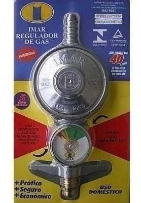 Imagem de Registro Regulador De Gás Imar Para Botijão Com Medidor