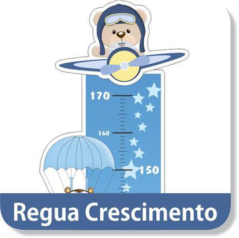 Regua Crescimento Urso Aviador Adesivo Decorativo Mundo Dos