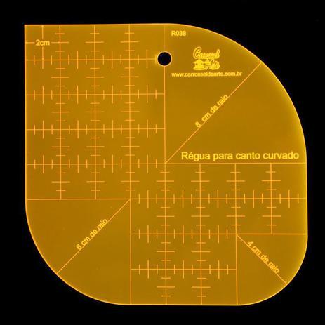 Imagem de Régua para Patchwork Canto Curvado
