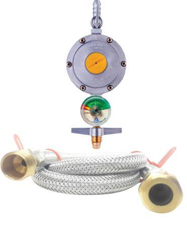 Imagem de Regulador 506 com visor medidor Mangueira 1metro Gás Fogão Embutir Cooktop Brastemp - Electrolux