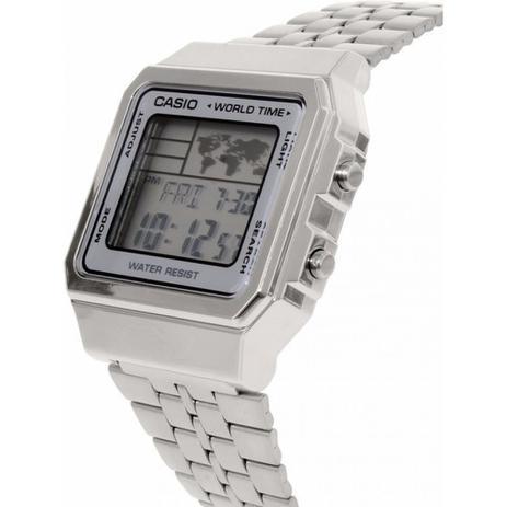 e18b63c4eb1 Relógio A500wa-7df Vintage Collection Prata Digital - Casio ...
