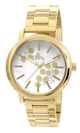 ac5592f39ae Relógio Allora Feminino Bordados Dourado AL2036CH4B - Relógio ...
