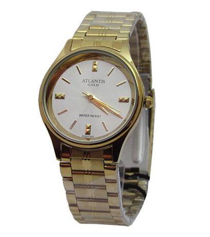 5c3c3472963 Relogio atlantis feminino b3490 dourado fundo branco - Relógio ...