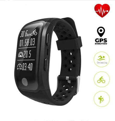 cc1285feac2dd Relógio Bluetooth S908 GPS, Freqüência Cardíaca ,À Prova D Água IP68  ,Rastreador ,Android IOS Preto - Supricell