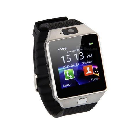 f1fb35d1eda Relógio Bluetooth Smartwatch Dz09 Iphone Android Gear Chip - Preto-Prata