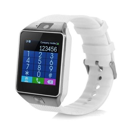 bc62c76a7d2 Relógio Bluetooth Smartwatch Ge Chip Dz09 Iphone Android Branco - Odc
