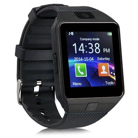 4d46ec78493 Relógio Bluetooth Smartwatch Ge Chip Dz09 Iphone Android Preto - Odc ...