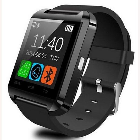 78a67a00023 Relogio Bluetooth Smartwatch u8 Compativel Iphone Android Sem fio Preto -  Wlxy